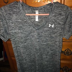 Under Armour grey and black v-neck top